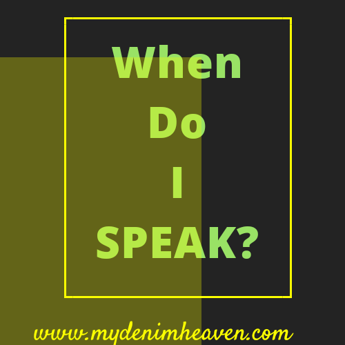 Monday Inspiration||When Do You Speak?